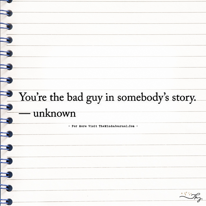 You Are…. In Somebody's Story!