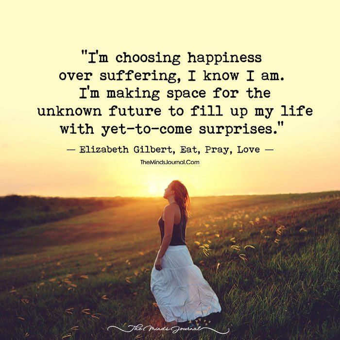 Choosing Happiness Over Suffering