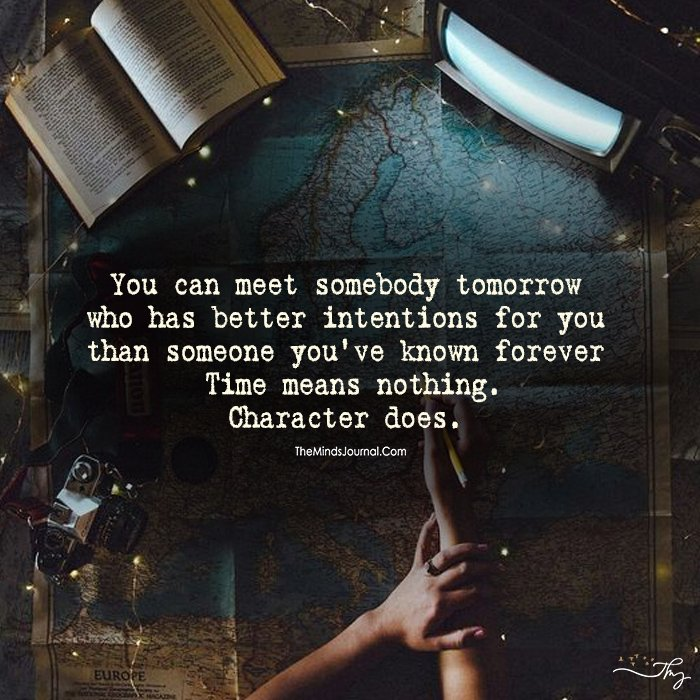 Time Means Nothing Character Does!