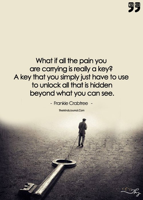 Don't Let The Key To Your Future Be The Weight Of Your Past