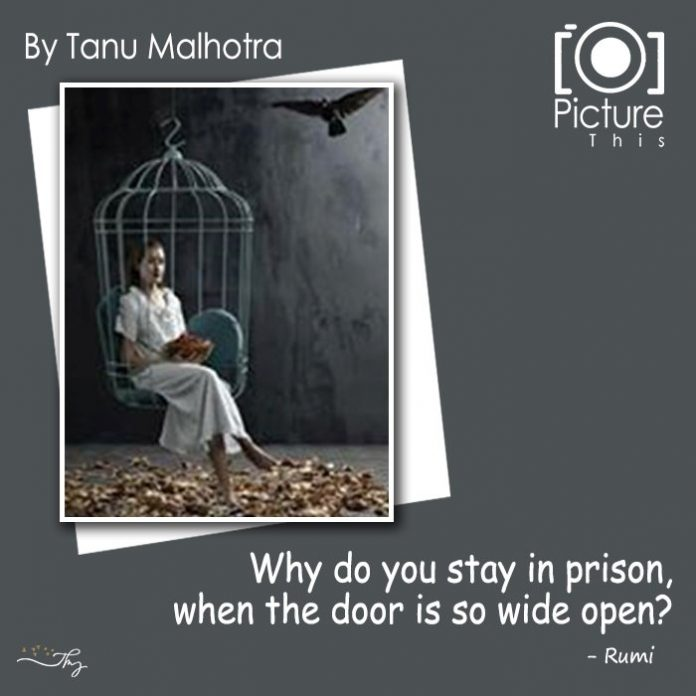 """Why Do You Stay In Prison, When The Door Is So Wide Open?"" ― Jalaluddin Rumi"
