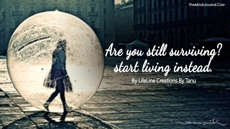 Are You Still Surviving? Start Living Instead.