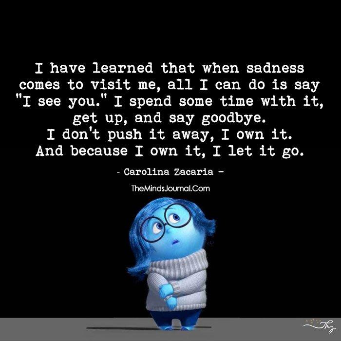 I Own Sadness, So I Let It Go