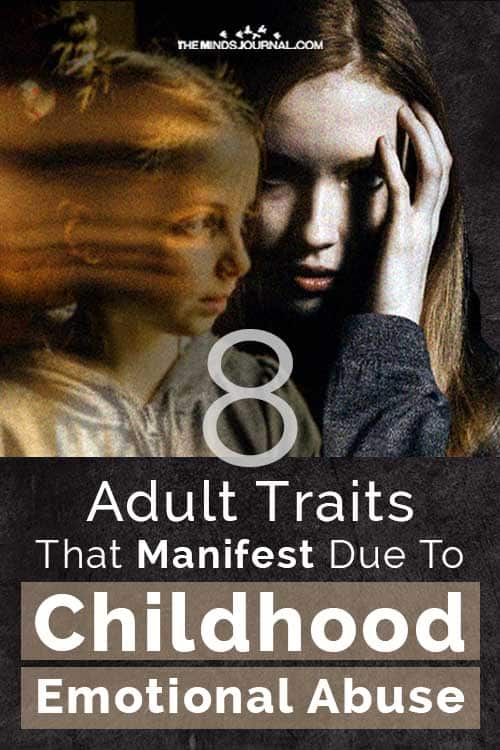 Adult Traits Due To Childhood Emotional Abuse Pin