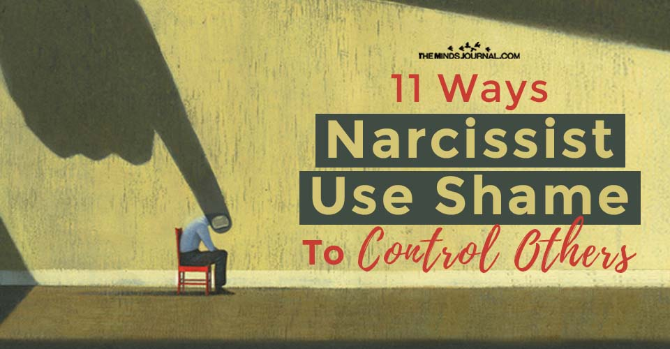 Narcissist Use Shame to Control Others