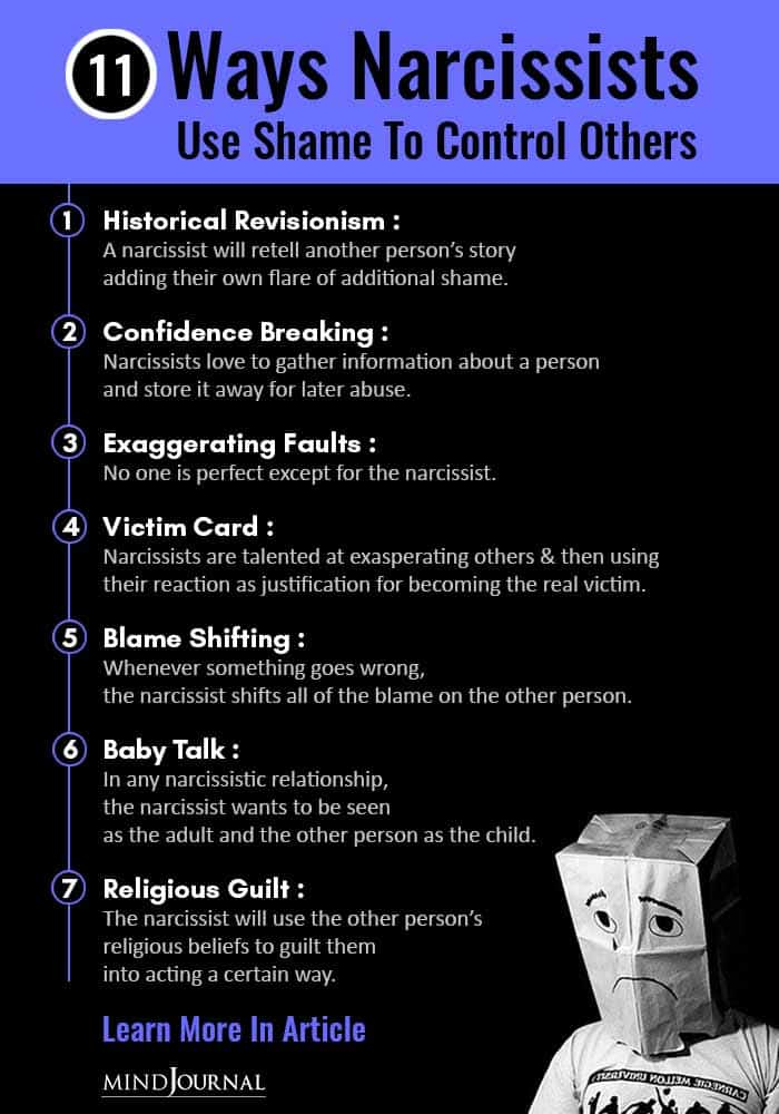 Ways Narcissists Use Shame to Control Others