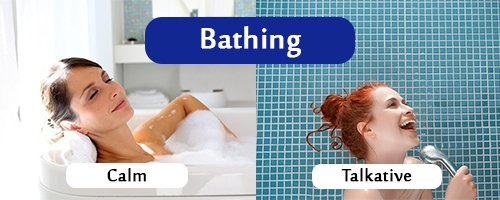 bathing habits gives away personality