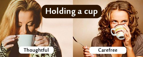 your style of holding cup