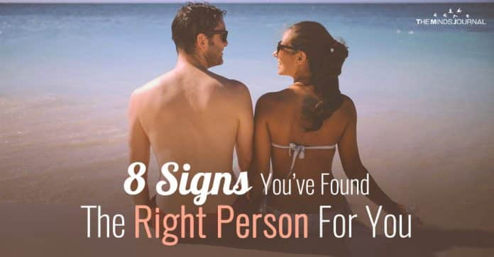 the right person for you