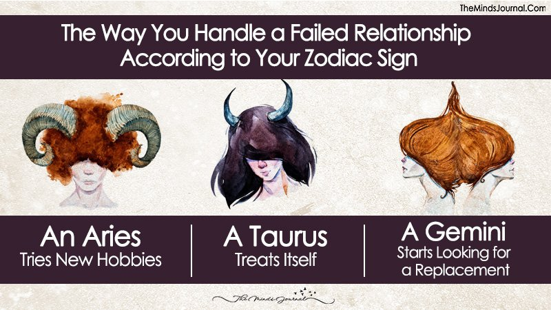 The Way You Handle a Failed Relationship According to Your Zodiac Sign