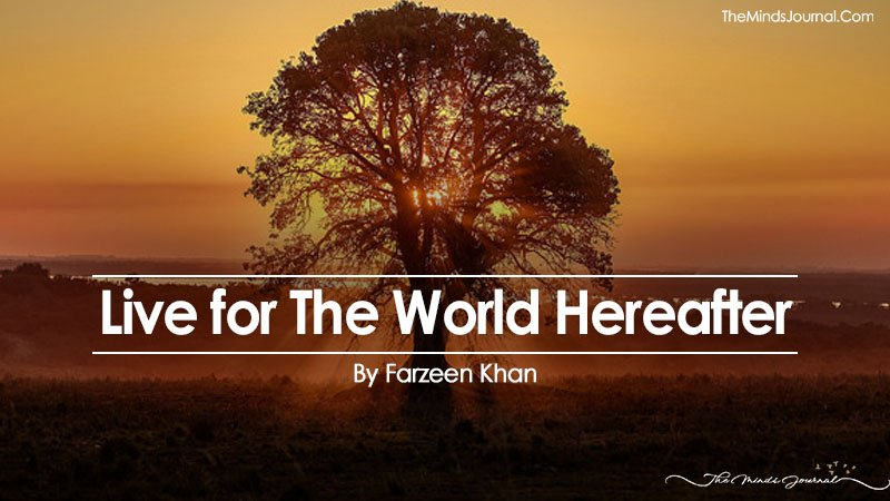 Live for The World Hereafter