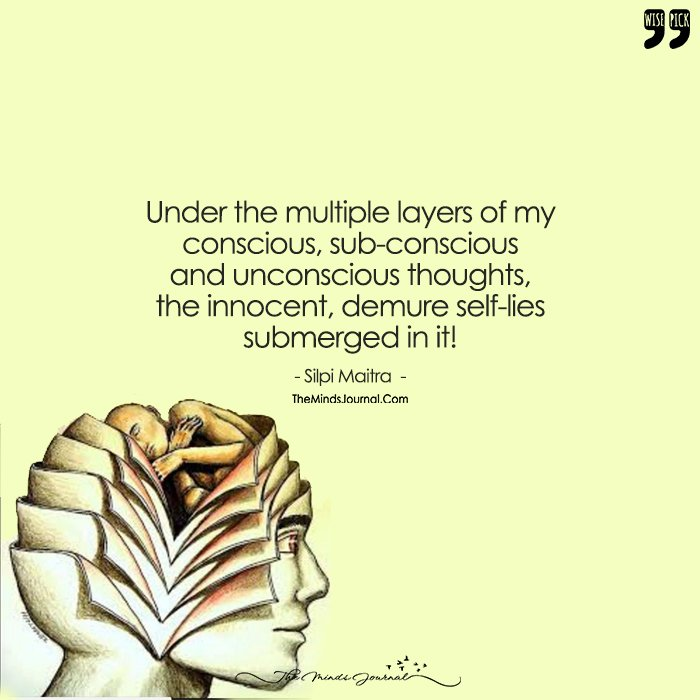 Under The Multiple Layers Of My  Conscious, Sub-Conscious And Unconscious Thoughts, Here I Am!