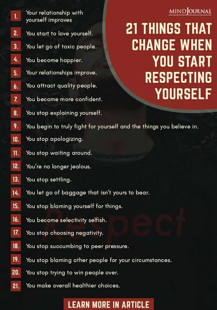 Things Change Start Respecting Yourself Infographic