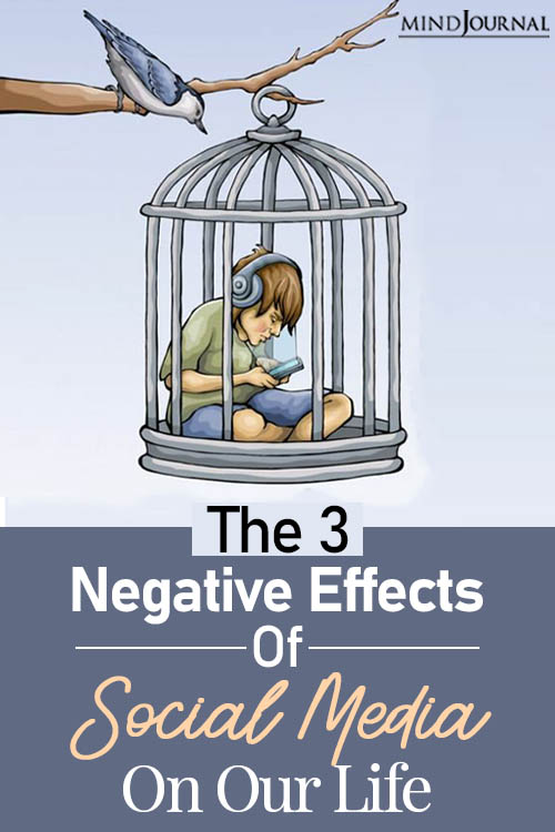 negative effects of social media on our life pin