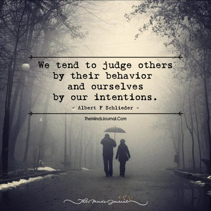 We Tend To Judge