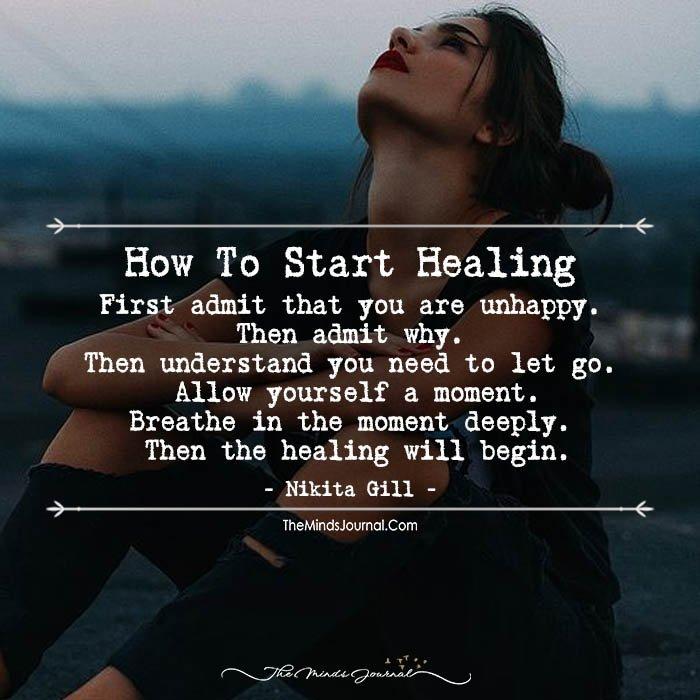 how to start healing