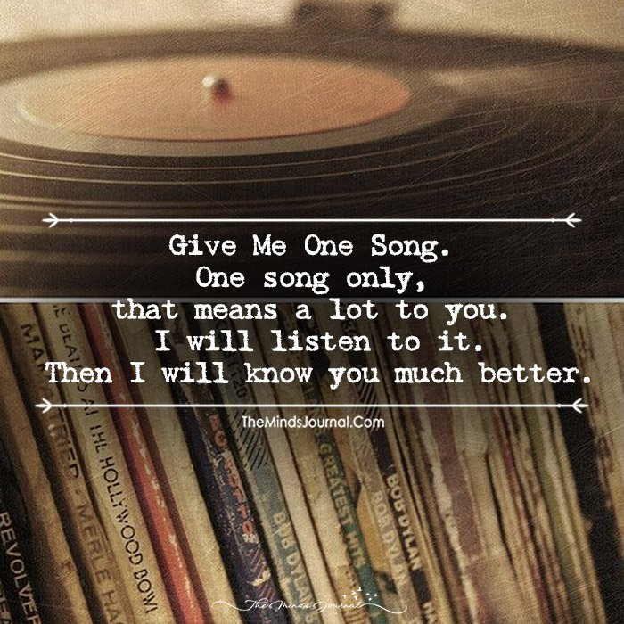 Just One of Your Favorite Song Will Be Enough To Know You Better!