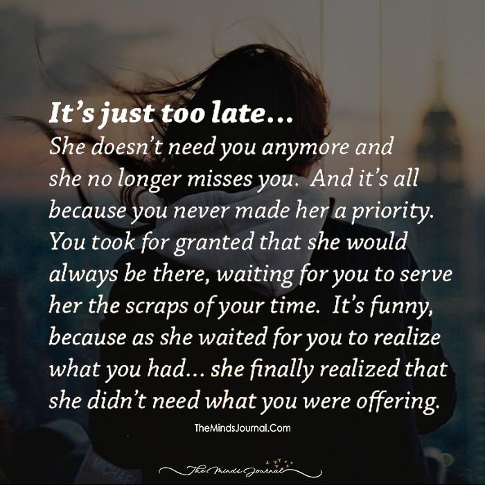 Too Late!!