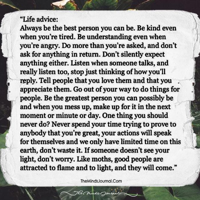 Advice, Worth Following!