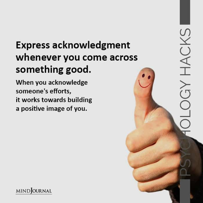 Express acknowledgment