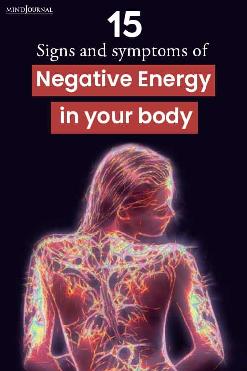 Signs Negative Energy In Body pin