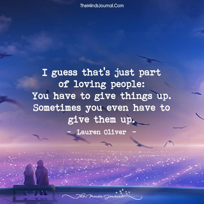 i gave up on love