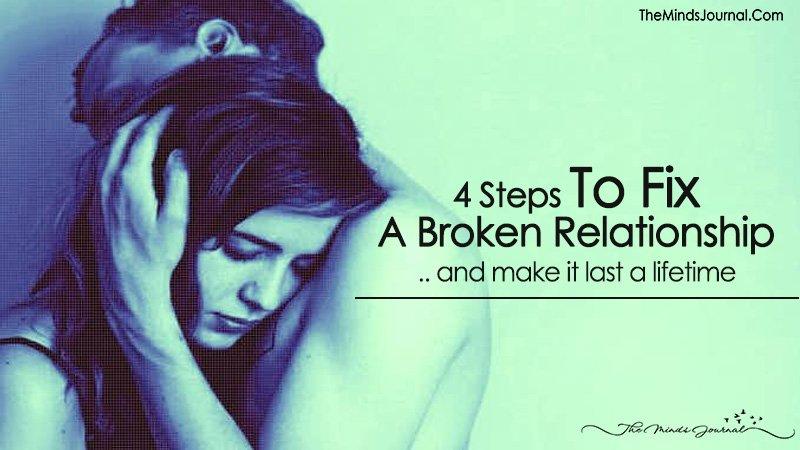 Steps to fix a broken relationship