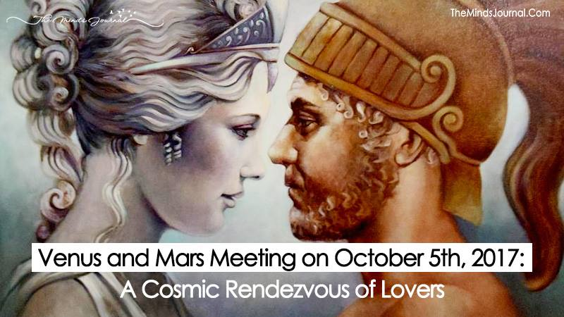Venus and Mars Meeting on October 5th, 2017: A Cosmic Rendezvous of Lovers that Won't Repeat Itself till 2019.