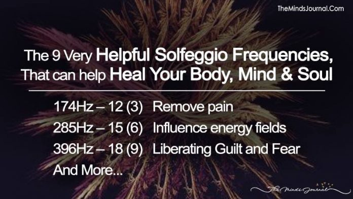 The 9 Very Helpful Solfeggio Frequencies That Can Help Heal Your Body, Mind, And Soul