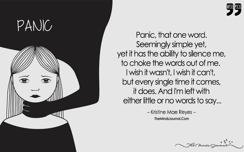 With A Vacant Look In My Eye, The Stronghold Of Panic, Makes Me Internally Cry