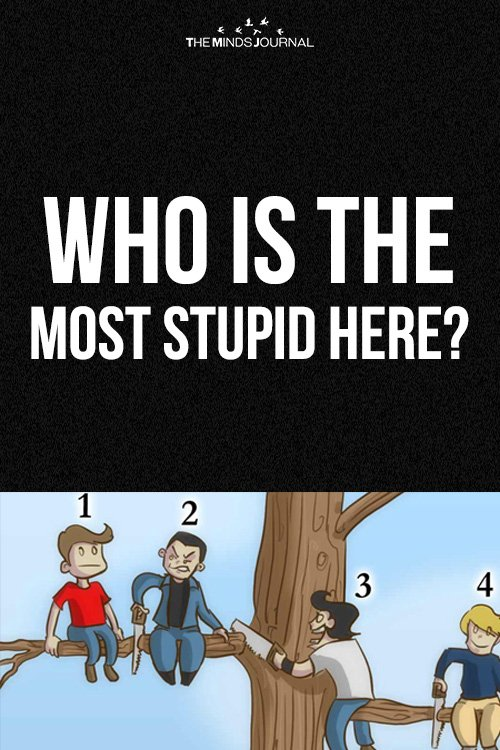 Who Is The Most Stupid Here: The Guy You Choose Will Say Something About Your Personality