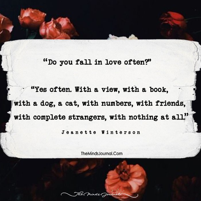 do you fall in love