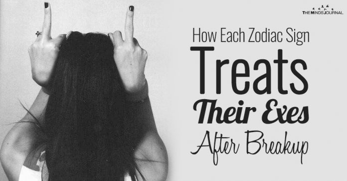 How Each Zodiac Sign Treats Their Exes After Breakup