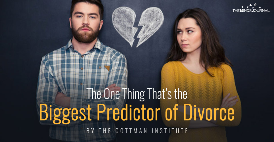 The One Thing That's the Biggest Predictor of Divorce