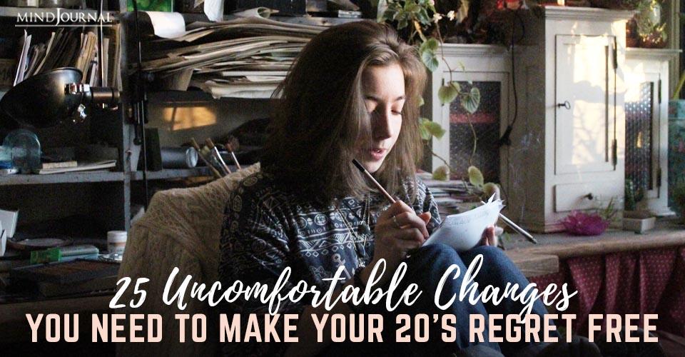 Uncomfortable Changes Make Regret Free