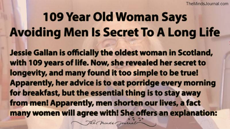 109-Year-Old Woman Says Secret To A Long Life Is Avoiding Men
