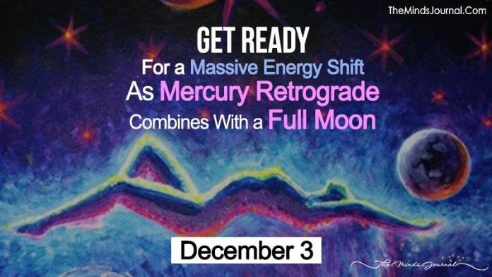 Get Ready For a Massive Energy Shift As Mercury Retrograde Combines With a Full Moon on December 3