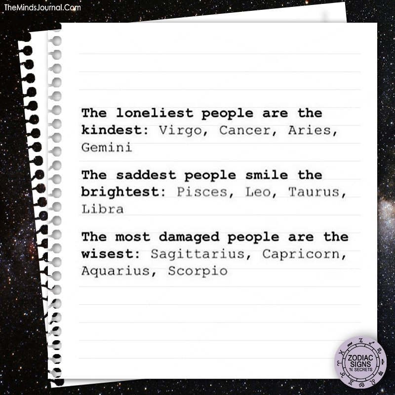 The loneliest, saddest and the most damaged zodiac signs
