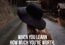 When you learn how much you're worth
