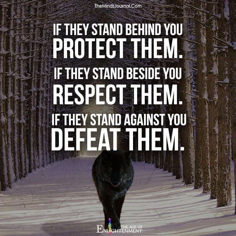 If they stand behind you protect them