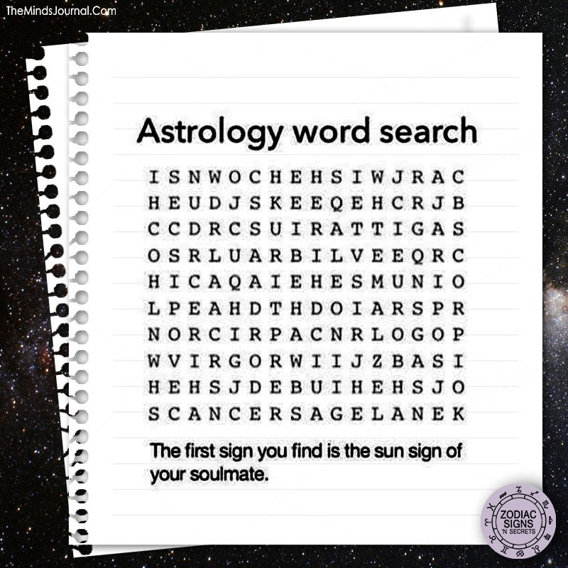 Astrology word search