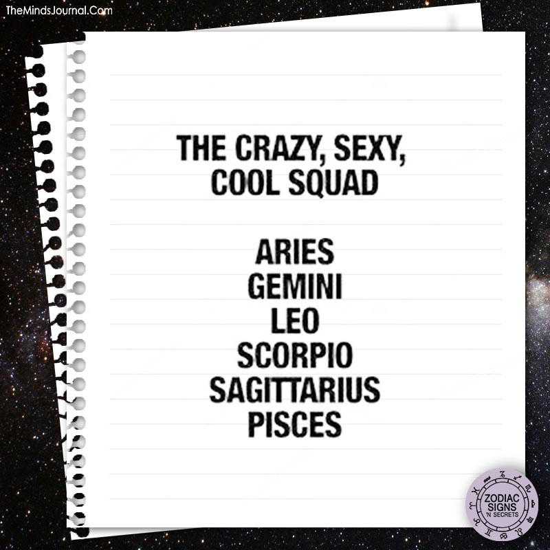The crazy, sexy, cool squad