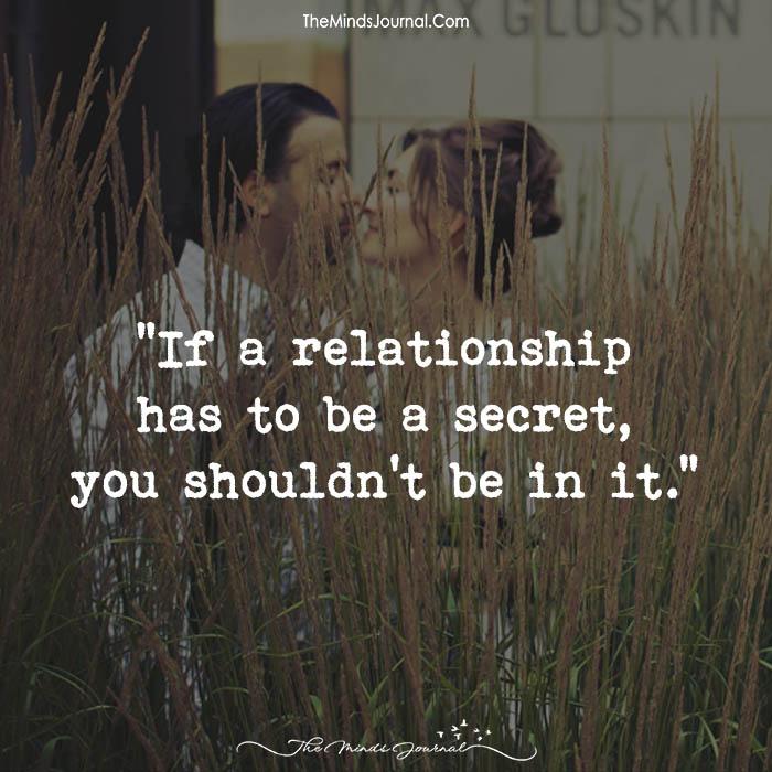Secret to relationships
