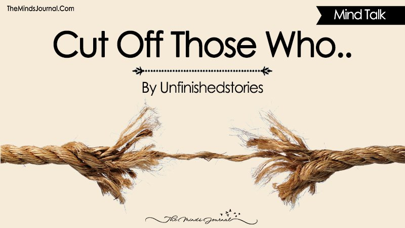 Cut Off Those Who..