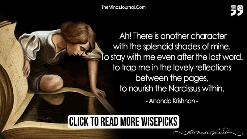 Trap Me In The Lovely Reflections Between The Pages.. To Nourish the Narcissus Within.