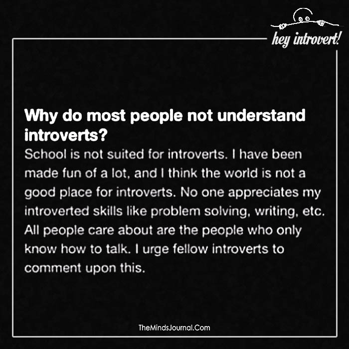 people not understand introverts