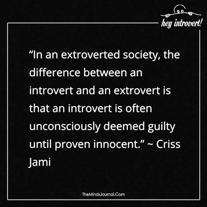 In an extroverted society