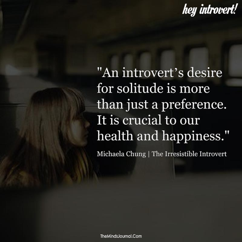 An introvert's desire for solitude is more than just a preference