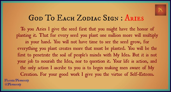 god to each zodiac sign Aries