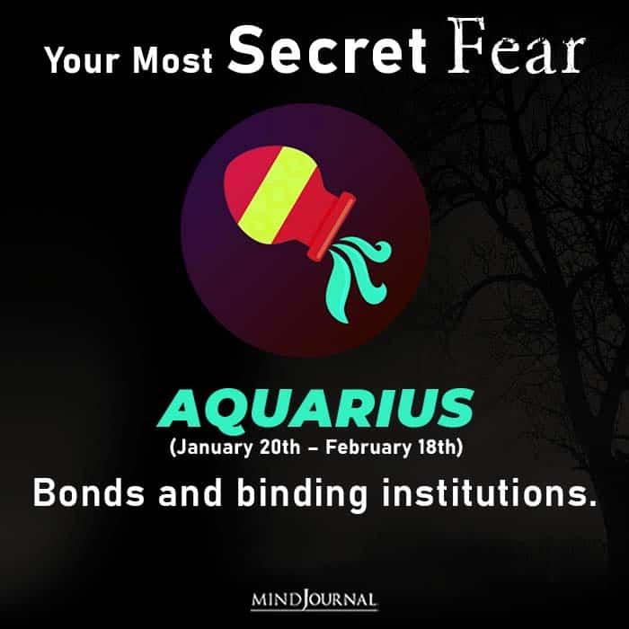 Most Secret Fear Zodiac Sign aquarius